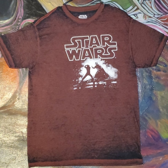 Star Wars distressed mens graphic tee